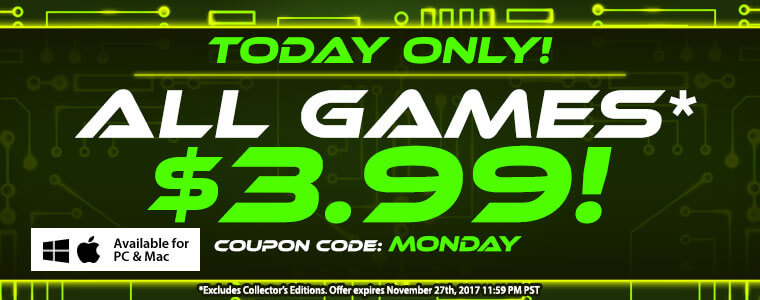 Cyber monday sale get standard version games for each for Big fish casino free chips promo code