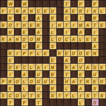 Crossword Cove Solution: November 29, 2017