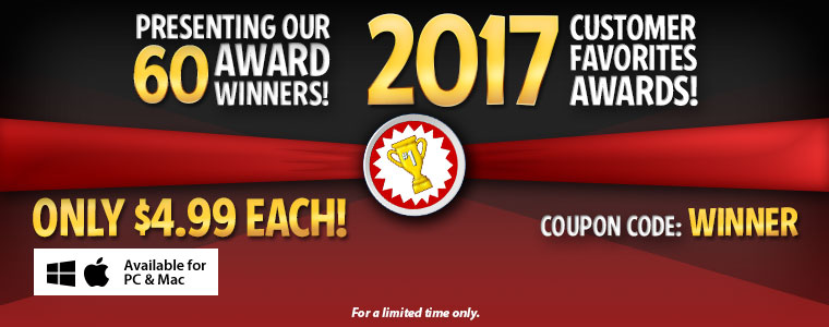 2017 Customer Favorites Awards Sale: All Standard Version Winners Are $4.99 Each