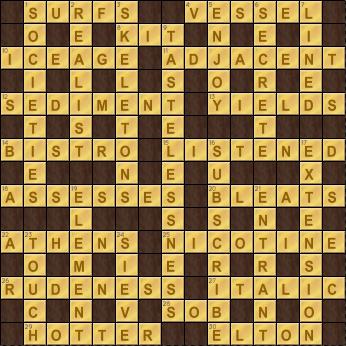Crossword Cove Solution: December 29, 2017