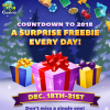 Countdown to 2018 with Daily Freebies
