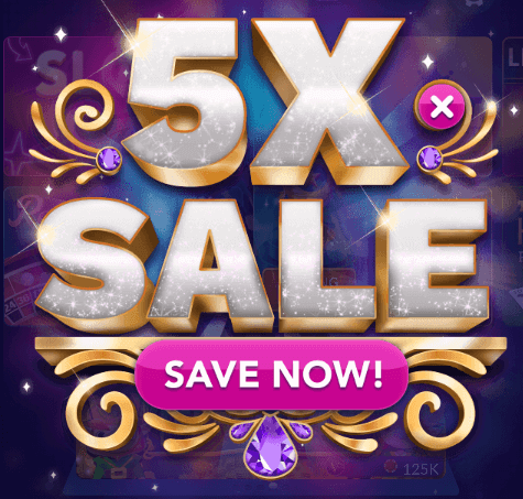 5x chips gold sale for Big fish casino facebook