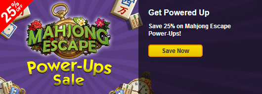 Save 25 on mahjong escape power ups for Gold fish casino promo codes