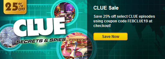 Coupon code save 25 on select clue episodes for Big fish casino promo code free chips
