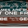 Presidents' Day Sale: All Games Are Buy One, Get One Free