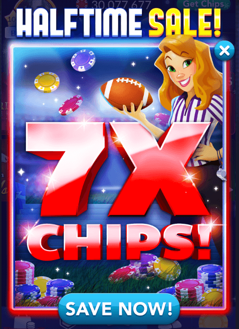 Super sunday 7x halftime sale for Big fish casino free chips promo code