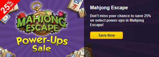 Save 25 on mahjong escape power ups for Big fish casino promo code free chips