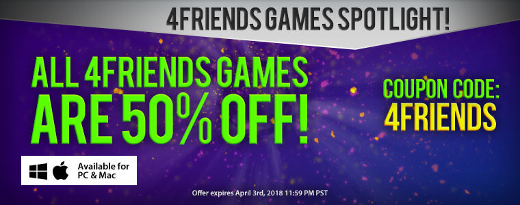 Developer Spotlight: 4Friend Games + Coupon Code