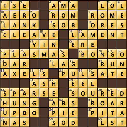 Crossword Cove HD Solution: May 9, 2018
