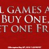 Memorial Day Sale: All Games Are Buy One, Get One Free