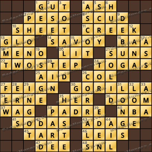 Crossword Cove HD Solution: July 3, 2018