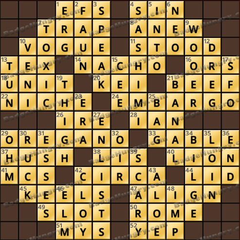 Crossword Cove HD Solution: August 10, 2018