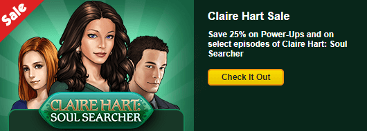 Save 25% on Claire Hart Episodes