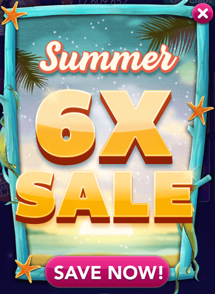 6x chips gold sale for Big fish casino facebook