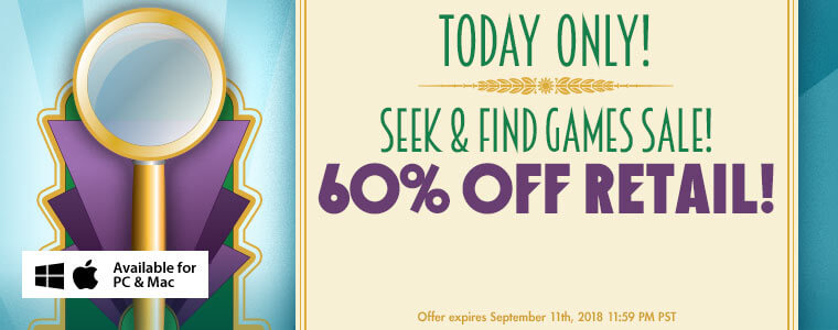Coupon Code: Hidden Object Games Are 60% Off