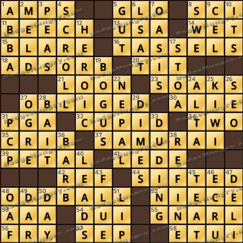 Crossword Cove HD Solution: October 19, 2018