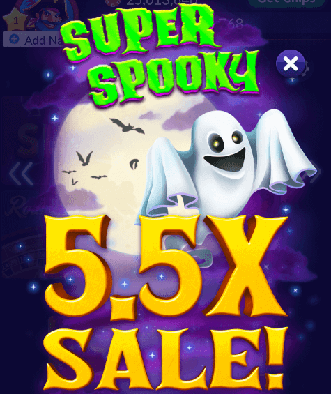 5.5X Halloween Chips & Gold Sale