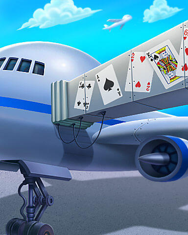 Jet Set Solitaire - Now Boarding Badge