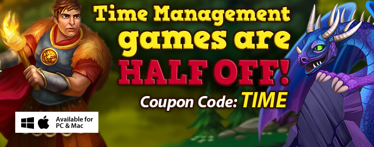 Coupon Codes: Time Management Games Are 50% Off