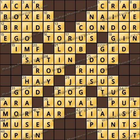 Crossword Cove HD Solution: December 23, 2018
