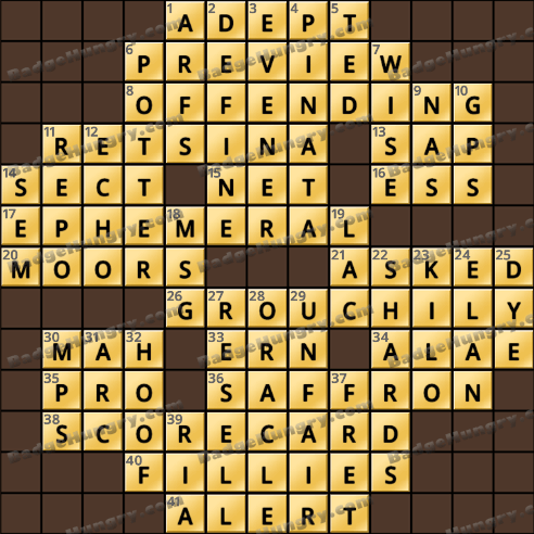 Crossword Cove HD Solution: December 27, 2018