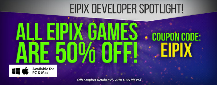 Developer Spotlight: Eipix Entertainment + Coupon Code