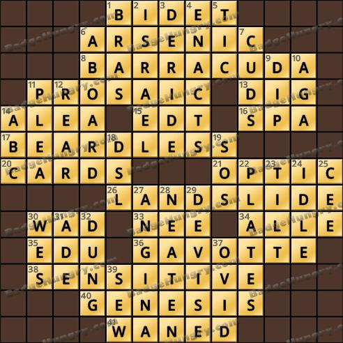 Crossword Cove HD Solution: January 10, 2019