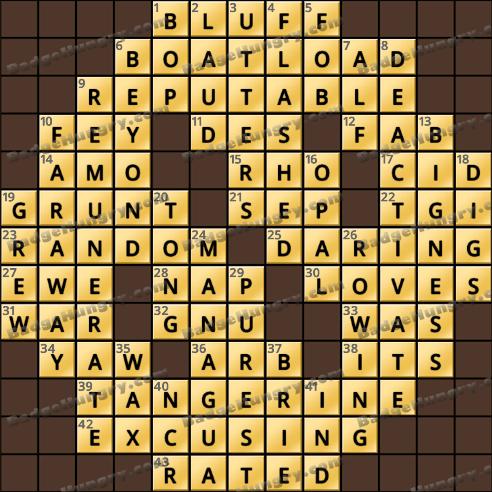 Crossword Cove HD Solution: January 23, 2019