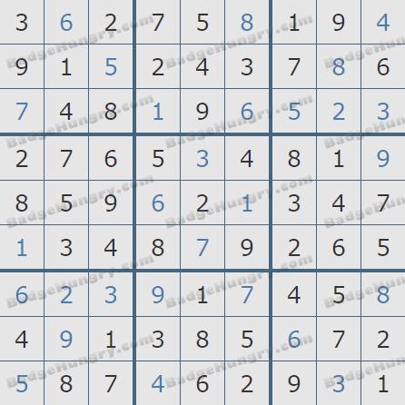 Pogo Daily Sudoku Solutions: January 26, 2019