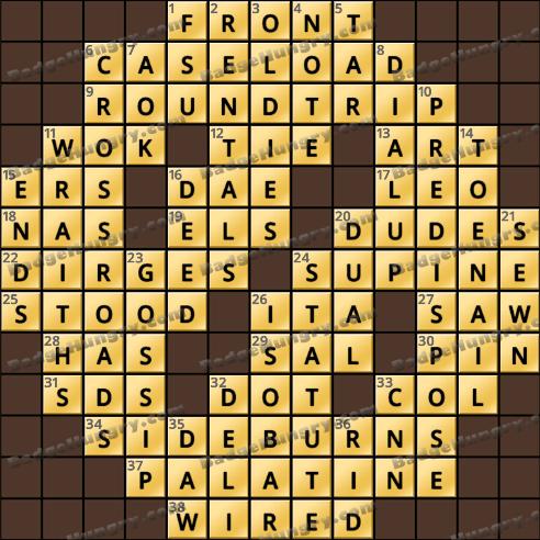 Crossword Cove HD Solution: January 29, 2019