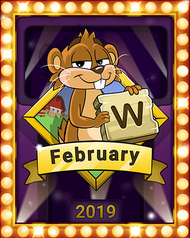 February 2019 Game of the Month Word Whomp HD Badge