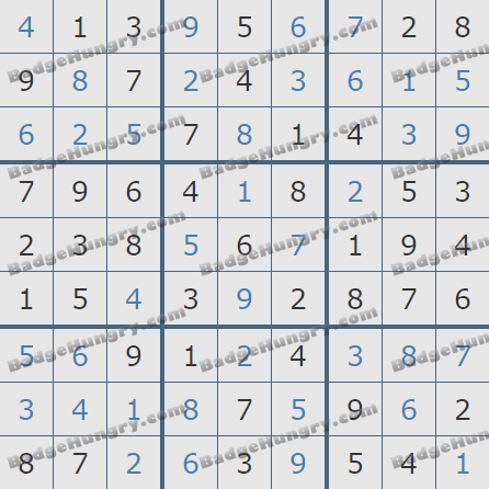 Pogo Daily Sudoku Solutions: January 1, 2019