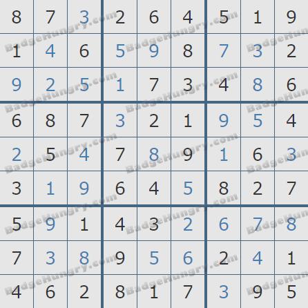 Pogo Daily Sudoku Solutions: January 3, 2019