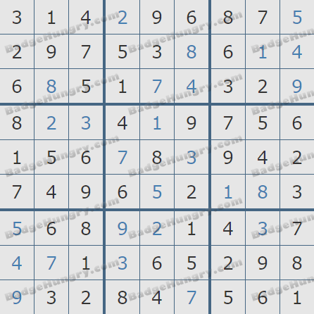 Pogo Daily Sudoku Solutions: January 5, 2019