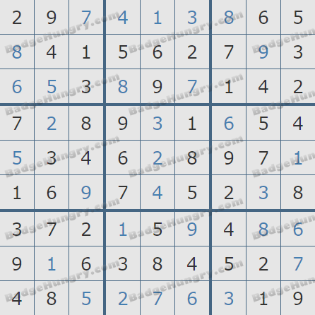 Pogo Daily Sudoku Solutions: January 6, 2019