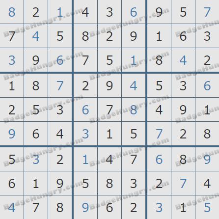 Pogo Daily Sudoku Solutions: January 8, 2019