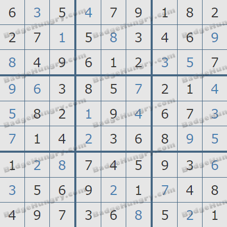 Pogo Daily Sudoku Solutions: January 9, 2019