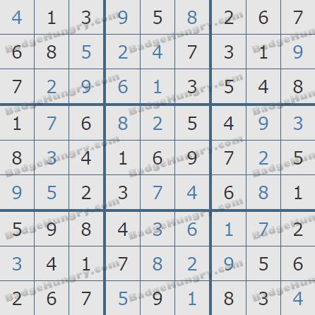 Pogo Daily Sudoku Solutions: January 10, 2019