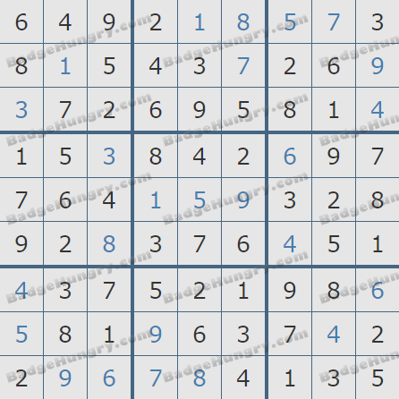 Pogo Daily Sudoku Solutions: January 11, 2019