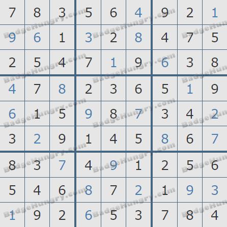 Pogo Daily Sudoku Solutions: January 18, 2019