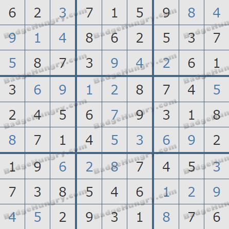Pogo Daily Sudoku Solutions: January 22, 2019
