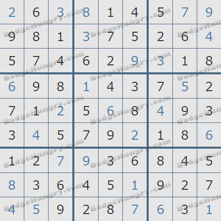 Pogo Daily Sudoku Solutions: January 27, 2019