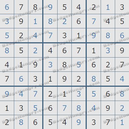 Pogo Daily Sudoku Solutions: January 28, 2019