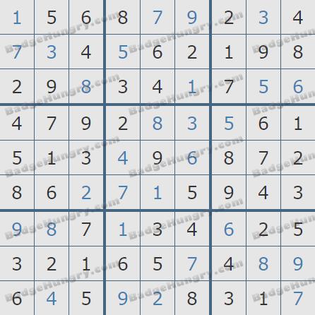 Pogo Daily Sudoku Solutions: February 2, 2019