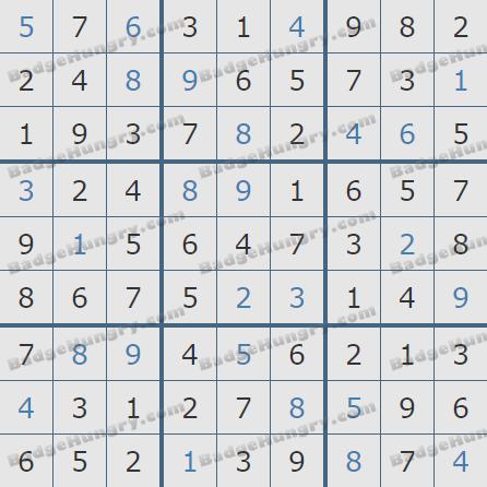 Pogo Daily Sudoku Solutions: February 3, 2019