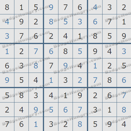 Pogo Daily Sudoku Solutions: February 4, 2019