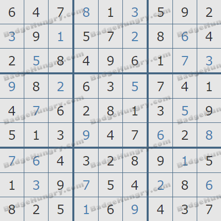 Pogo Daily Sudoku Solutions: February 6, 2019