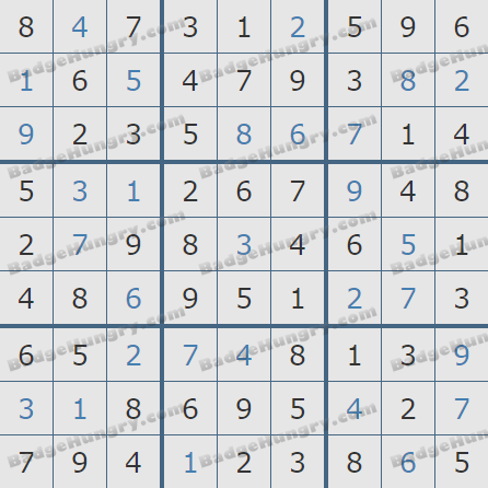 Pogo Daily Sudoku Solutions: February 8, 2019