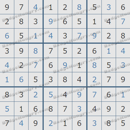 Pogo Daily Sudoku Solutions: February 11, 2019