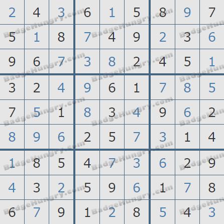 Pogo Daily Sudoku Solutions: February 18, 2019